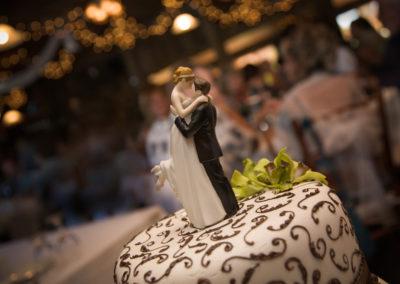 Gâteau de mariage (mariage et réception Granby) Érabliere la Grillade Granby